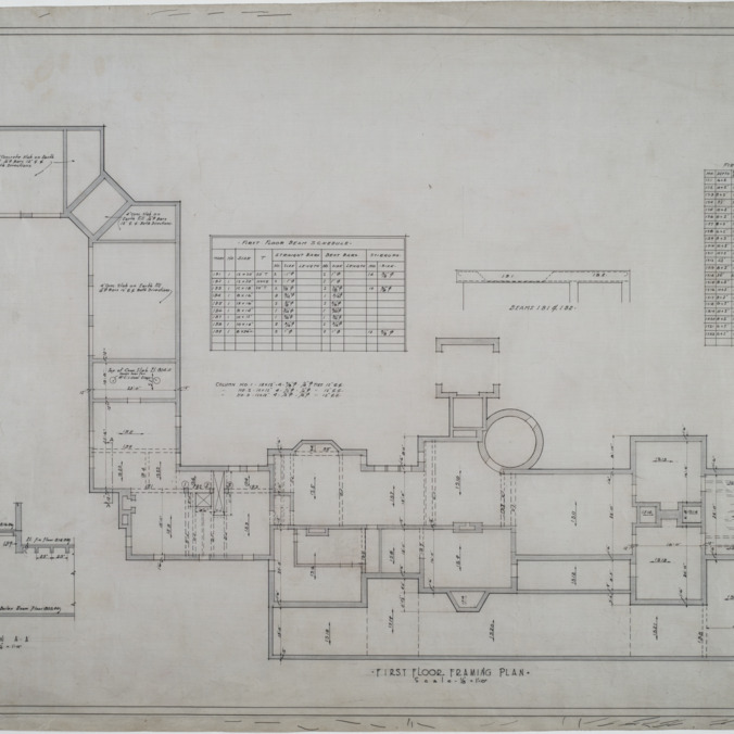 First floor framing plan