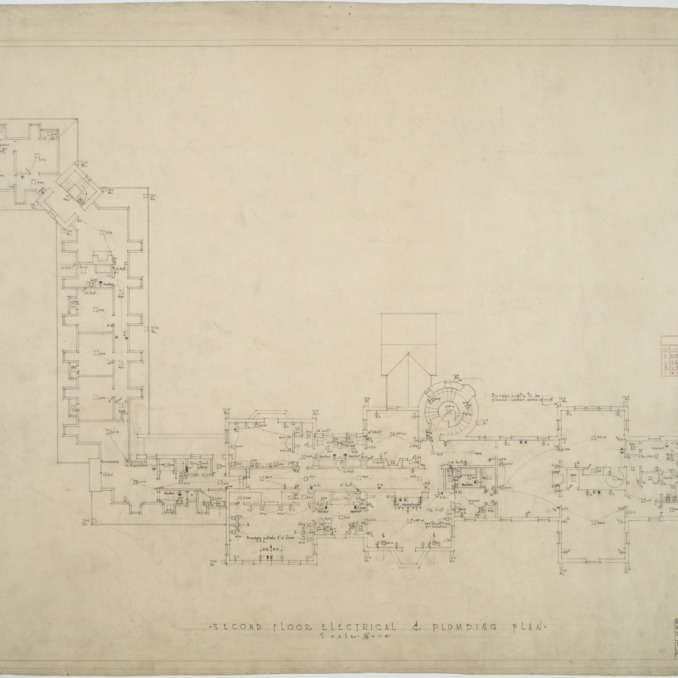 Second floor electrical and plumbing plan