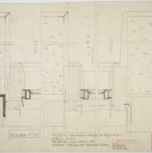 Basement steel casement and frame details