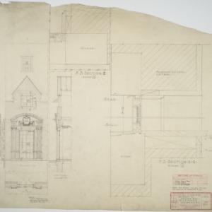 Details of door no. 129 and window w