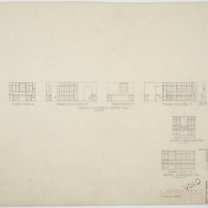 Details of cabinets in spaces #122, #123, #124