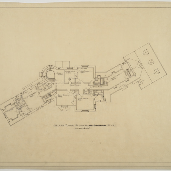 Second floor plumbing plan