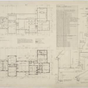 Basement floor plan, first floor plan