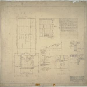Third floor framing plan, roof framing plan