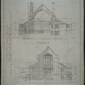 Front and rear elevation, revision