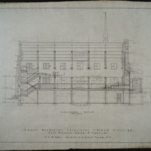 Half elevation of west front and 1st bay, revision