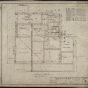 Basement foundation plan