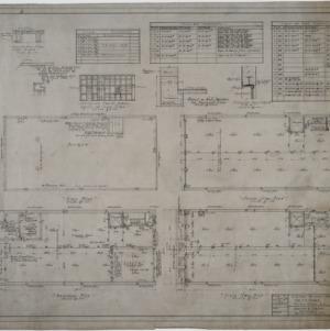 Basement plan, roof plan, first floor plan, second floor plan