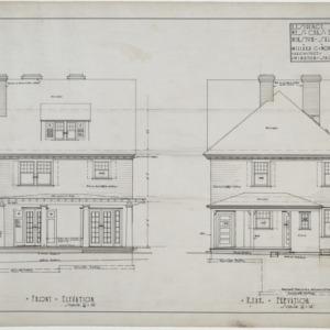 Front elevation, rear elevation