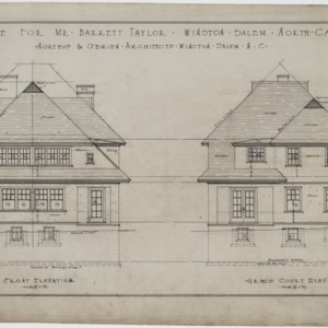 Front elevation, Grace Court elevation
