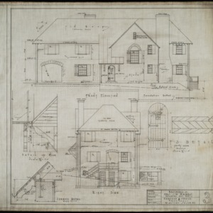 Front elevation and right side elevation