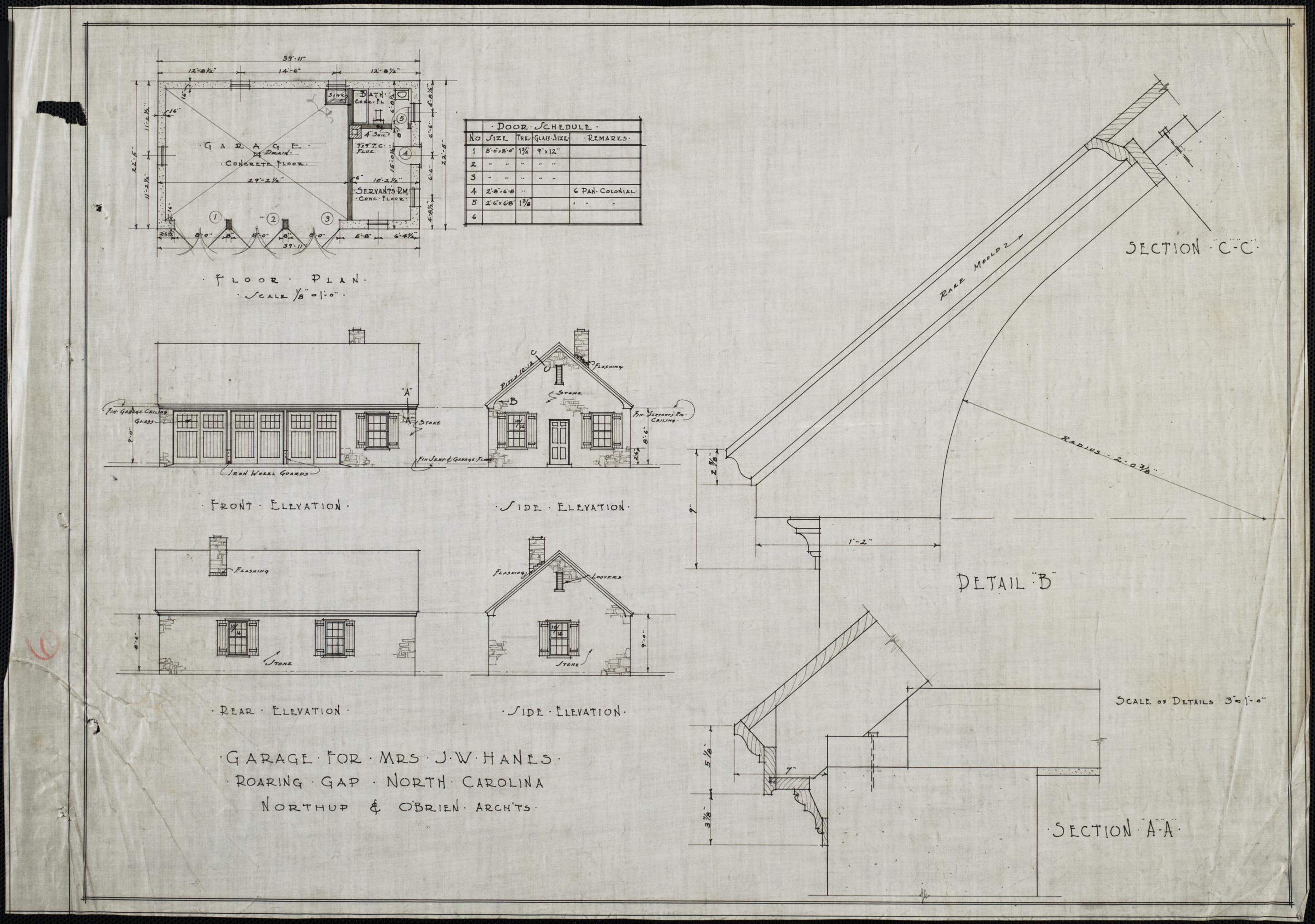 Front Elevation And Floor Plan : Garage floor plan front elevation side elevations rear