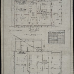 Basement and foundation plan, first floor plan