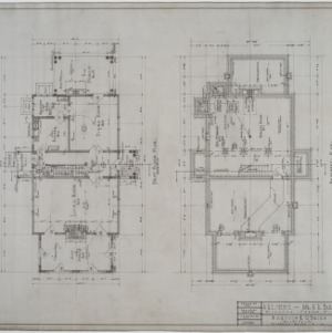 Basement plan, first floor plan