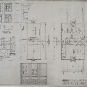 Attic and roof plan, second floor plan