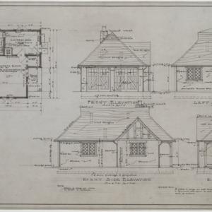 Garage elevations and floor plan