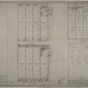 Basement floor plan, first floor plan, second floor plan, roof plan