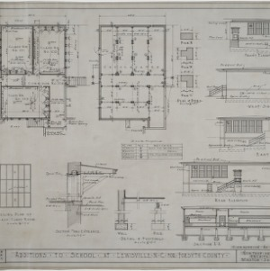Floor plans, elevations of addition