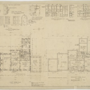 Basement floor plan, first floor plan