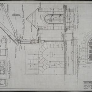 Detail of entrance, interior details