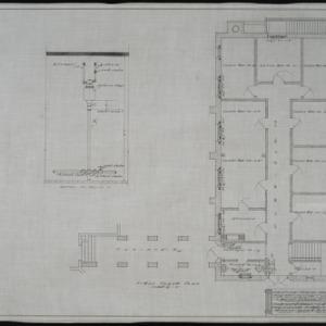 First floor plan, heating