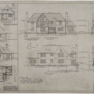 Elevations, garage elevations and floor plan