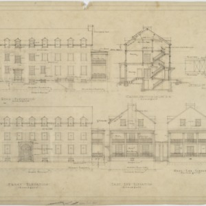 Elevations, sections