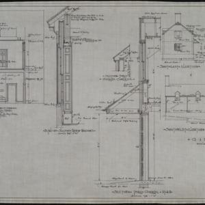 Garage elevations, interior details