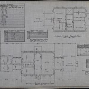 First floor framing plan, second floor framing plan