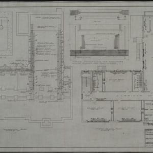 Foundation heating plan, first floor heating plan