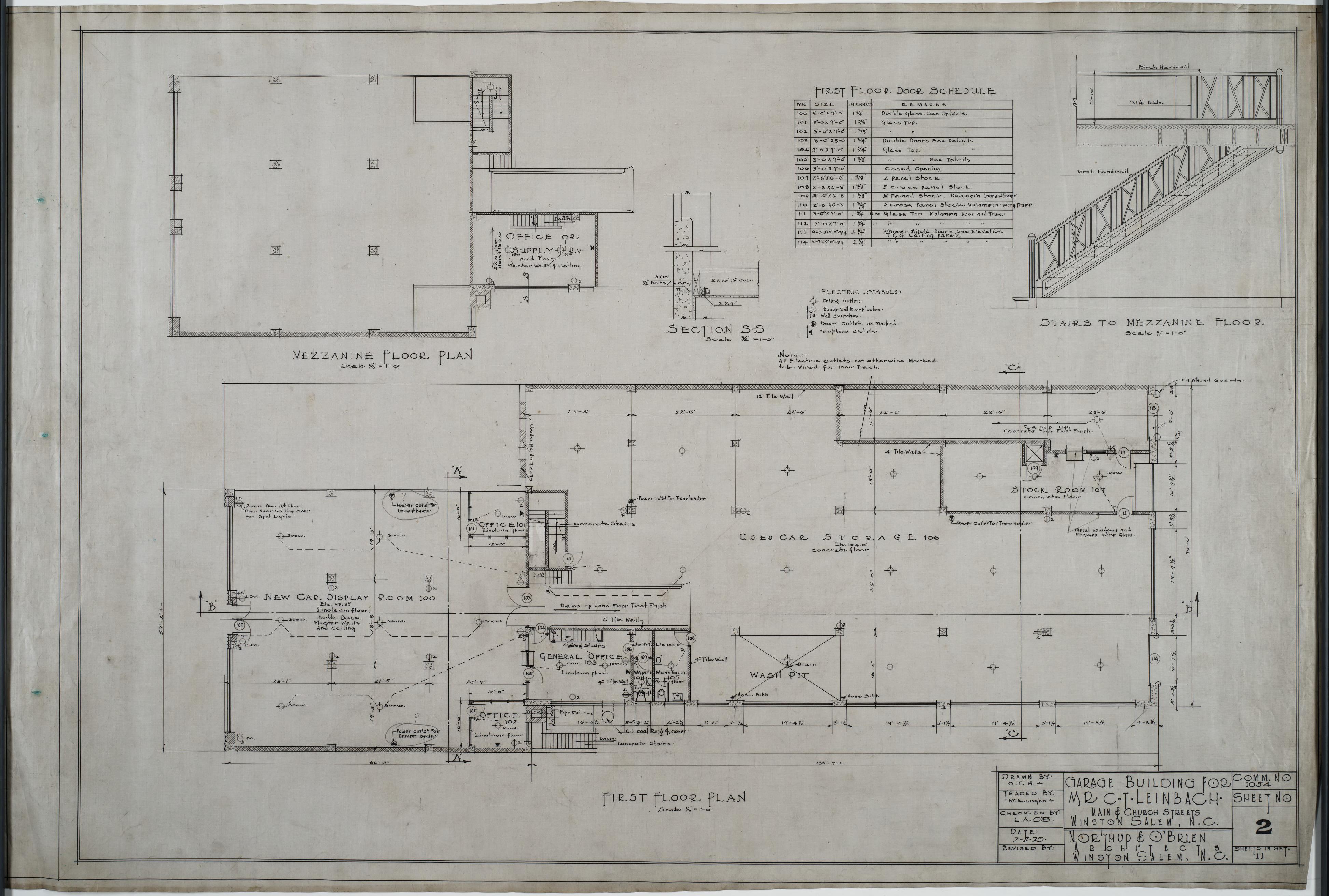 First floor plan mezzanine floor plan leinbach clarence for Mezzanine floor plan