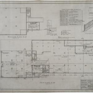 First floor plan, mezzanine floor plan