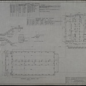 Auditorium floor plan, first floor framing plan