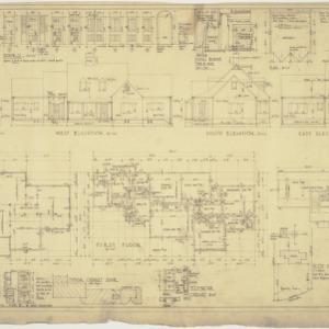 Elevations, floor plans