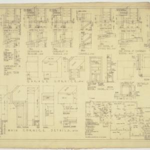 Interior details, electrical plan