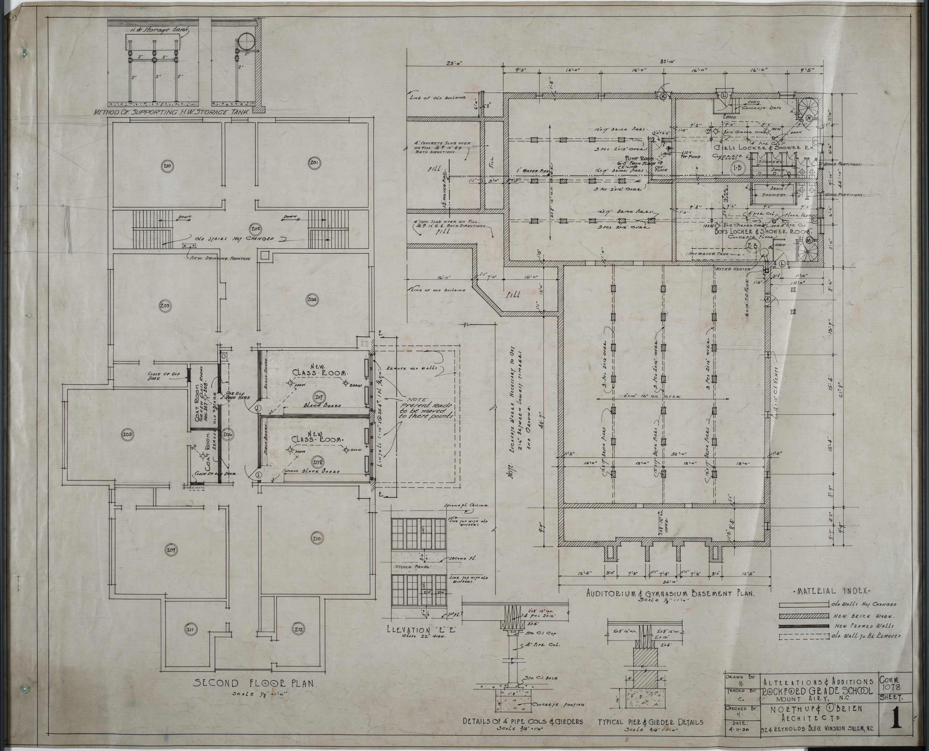 Second Floor Plan Auditorium And Gym Basement Plan
