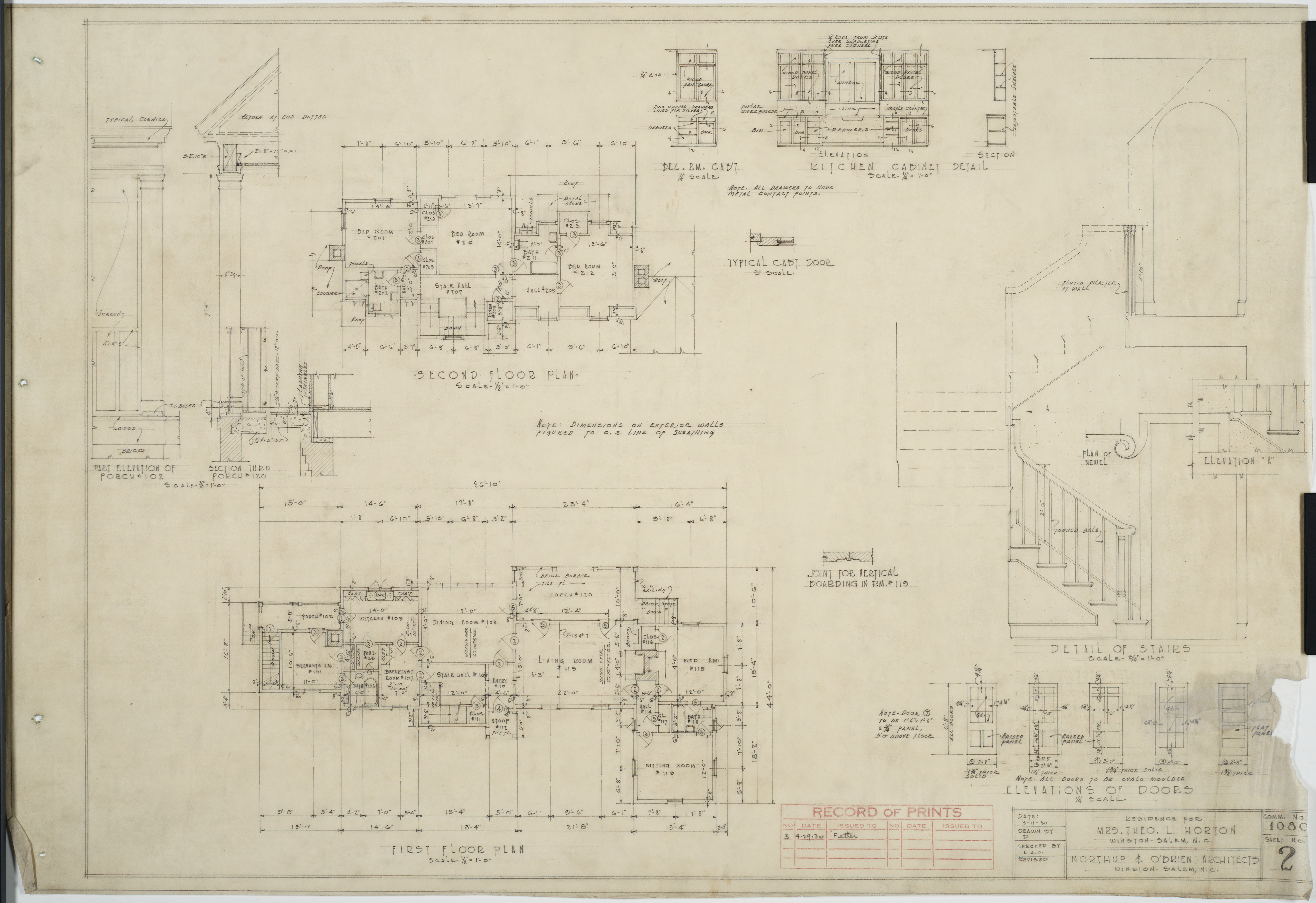 First floor plan second floor plan detail of stairs - Stairs to second floor design ...
