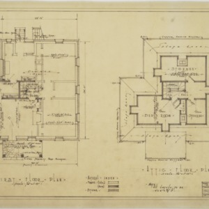 First floor and attic floor plans