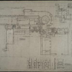 Basement floor plan, basement details