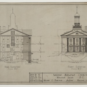 Front elevation, rear elevation