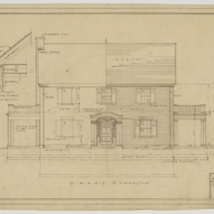 Front elevation and cornice detail
