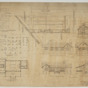 Elevations, floor plans, sections and details
