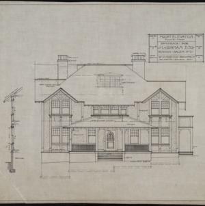 Kindergarten School-- Section Plan and Elevations (Lindley ...