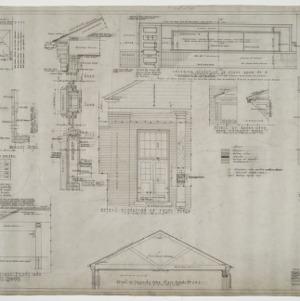 Elevation details, interior details, exterior details