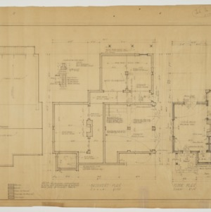 Basement plan, roof plan, floor plan, structural details, electrical details