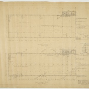 First floor plan, second floor plan, heating plan, plumbing plan