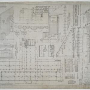 Basement floor plan, framing plan, entrance details, ventilation details