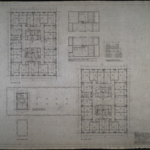 Fifth floor plan, sixth floor plan