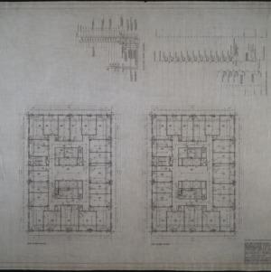 Seventh floor plan, eighth floor plan