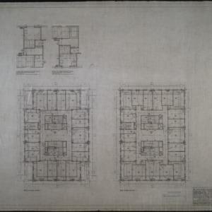 Ninth floor plan, tenth floor plan